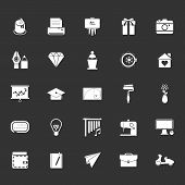 picture of fibonacci  - Art and creation icons on gray background stock vector - JPG