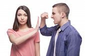 stock photo of stop fighting  - Stop violence - JPG