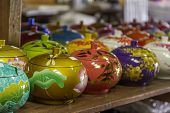 stock photo of paint pot  - decorated pot - JPG
