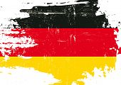 picture of scratch  - Scratched german Flag - JPG