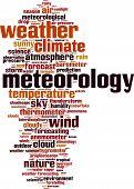 pic of barometer  - Meteorology word cloud concept - JPG