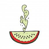 pic of squirt  - cartoon juicy squirting watermelon - JPG