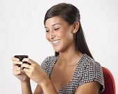 Young Woman Texting on a Cellphone