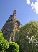 image of michel  - The Chapel built on the top of a needle of volcanic lava called Rocher St Michel  - JPG