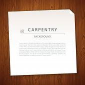 stock photo of carpentry  - Carpentry Background on Wooden Texture - JPG