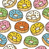 ������, ������: Donuts Seamles Pattern