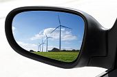 Rearview Car Driving Mirror Electric Windmills
