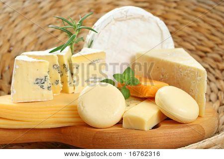 Постер, плакат: Совет вкусный сыр еда и напитки, холст на подрамнике
