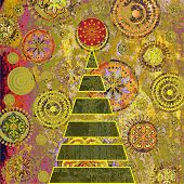picture of christmas star  - art christmas tree - JPG