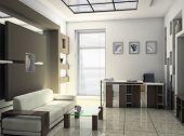 interior do escritório sala de descanso