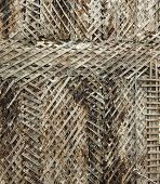 old  battens grid texture close-up photo