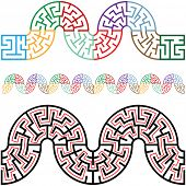 Travel the puzzling winding snake mazes, they tile horizontally for use as borders, frames, brushes, patterns, more.