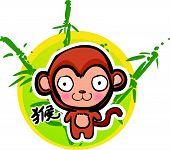 Cartoon Chinese Zodiac - Monkey