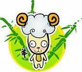 Cartoon Chinese Zodiac - Goat