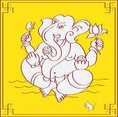 Ganesh, os Deus Hindu comer doces.