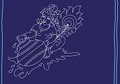 foto of lord krishna  - Lord Krishna eating butter  - JPG