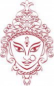 Durga Indian Goddess ornamental design