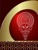 Calligraphic Durga festival design