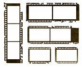 Grunge negative film set