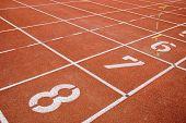 Leichtathletik-Tracks und nummers