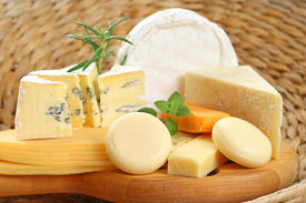 image of gourmet food  - board of delicious cheese  - JPG