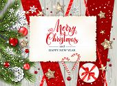 Christmas Festive Template For Banner, Ticket, Leaflet, Card, Invitation, Poster And So On. Holiday  poster