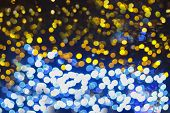 Colorful Bokeh Abstract Light Backgrounds, Blurred Lights For Christmas Night Light Holiday. Abstrac poster
