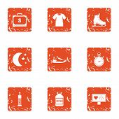 Medical Pulse Icons Set. Grunge Set Of 9 Medical Pulse Vector Icons For Web Isolated On White Backgr poster