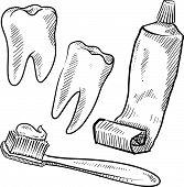 Dental objects sketch