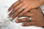 Bridal Couple Hands
