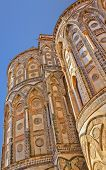Cathedral of Monreale apse exterior. Sicily, Italy