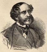 Antike gravierte Portrait Alfred Dedreux, bekannt für seine Pferde Portraits französischer Maler.  Oder