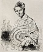 Portrait of M. Charles Sauvageot, honorary curator of  Louvre museum. From a drawing of Worms after