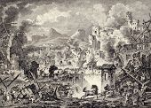 Old image of Messina earthquake destruction. Created by Coiny, Desprez  and De Ghendt, Published on