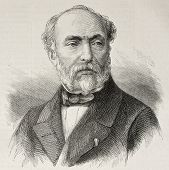 image of lithographic  - Old engraved portrait of Adrien Dauzats - JPG