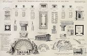 Comparative plate of Magnae Greece temples in Sicily. Created byRenard and Berthauld, published on V