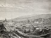 Old view of Gediz and the river of the same name, in the Aegean region, Turkey. Created by Gaiaud, p