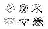 Hunting Season Premium Club Logo Design, Wildlife, Hunting, Travel, Adventure Retro Badges Vector Il poster