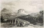 Постер, плакат: Старый иллюстрация замка Кассано Калабрия Италия Созданный лейтенанта Аллен лосось и Бент