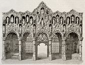 Rood screen in Saint-Nicolas church, Dixmude, Belgium. By unidentified author, published on Magasin
