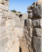 View Of The Round Tower Through The Loophole Of The Middle Tower Of The Western Wall Of  Nimrod Fort poster