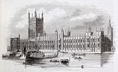 Ver velho do Palácio de Westminster, Londres, autor não identificado, publicado no Magasin Pittoresque, Paris