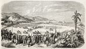pic of algiers  - Algiers racecourse old illustration - JPG