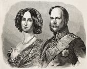 William I, Prince Regent of Prussia (and afterwards German Emperor) with his wife Augusta of Saxe-We