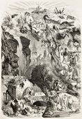 Water: old fantasy illustration. Created by Nanteuil, published on L'Illustration, Journal Universel