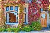 Entrada de um antigo castelo em Victoria, British Columbia.
