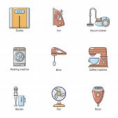 Scavenge Day Icons Set. Cartoon Set Of 9 Scavenge Day Vector Icons For Web Isolated On White Backgro poster