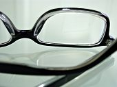 Close Up Shot Of Dark-Rimmed Eye Glasses