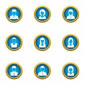 Personal Skill Icons Set. Flat Set Of 9 Personal Skill Icons For Web Isolated On White Background poster