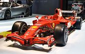 GENEVA - MARCH 7: Ferrari F1 bolide on display at the 79th International Motor Show Palexpo-Geneva o